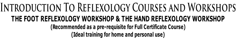 Reflexology Courses- Introductory Workshops